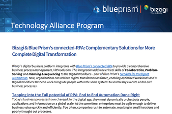 Bizagi and Blue Prism Solution Brief