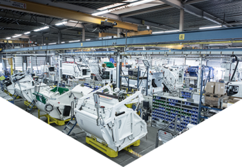 Vehicle production line in factory